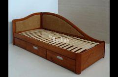 надежная подростковая кровать из массива  дерева (ясень, дуб)