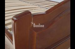 Двуспальная кровать с изножьем из массива ясеня