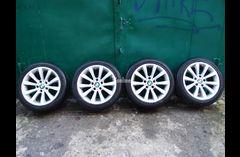 Продам комплект колес 225/45/17 c финской летней резиной