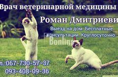 Вызов ветеринара (О9З)4О8-09-З6 на дом