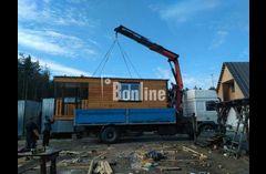 Аренда крана манипулятора на базе 10 тонного грузовика. Изготовление, продажа бытовок, постов и др.